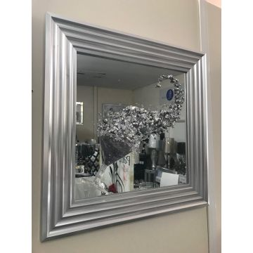 Silver Cocktail glass 3D glitter art mirrored picture