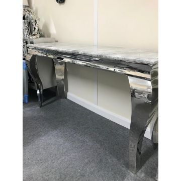Louis Console Table with Grey Solid Marble Top