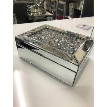 Crushed diamond large jewellery box