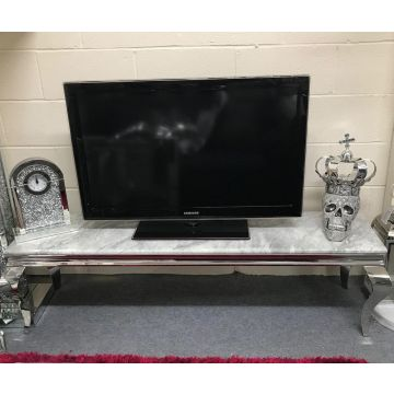 Louis grey marble TV stand 1.6m long
