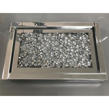 Crushed Crystal Mirrored Tray