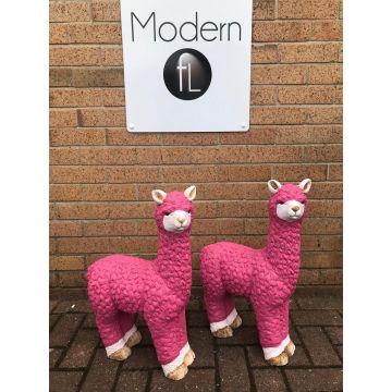Pink Llama Garden Ornamen
