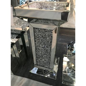 Crushed Crystal Mirrored Pedestal