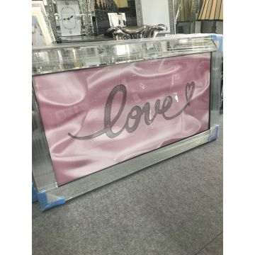 Pink love sparkle glitz mirrored picture