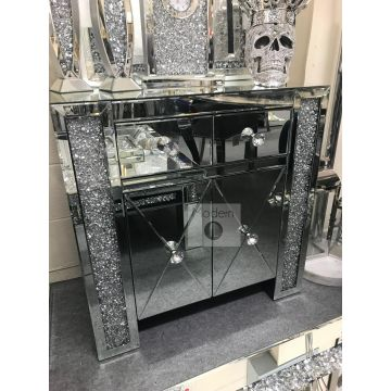 Deluxe Crushed Crystal Sideboard