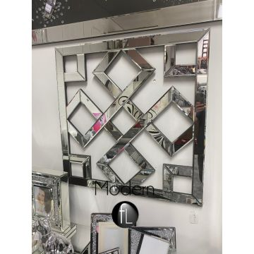 Large Geometric Mirrored Wall Art 80 cm x 80 cm