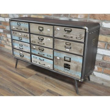 Industrial Style Wood & Metal Sideboard
