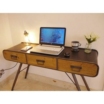 Industrial style computer desk
