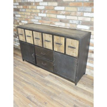 Industrial style large sideboard