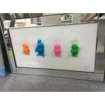 Melting Jelly Baby Picture with Mirror Frame