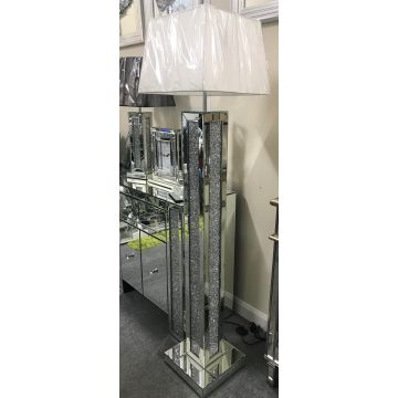 Deluxe Crushed Crystal Floor Lamp
