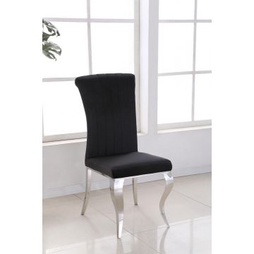 Pair of Louis Style Black Dining Chair