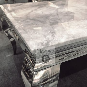 Louis coffee Table with Grey Solid Marble Top