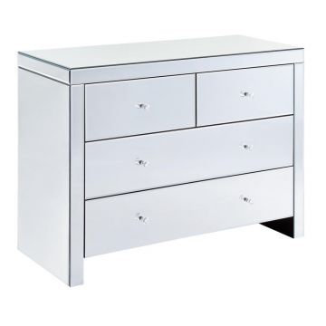 Venetian mirrored chest of 4 bedroom drawers
