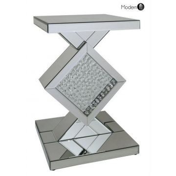 Mirrored crystal triangles pedestal