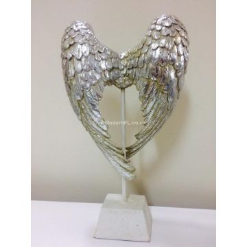 Mother of pearl angel wings ornament, angel wings figurine on stand