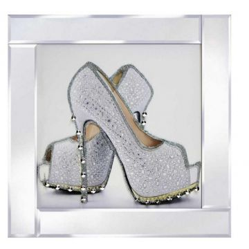 Silver platform Stiletto shoe picture
