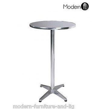 New aluminium poseur bar table, silver patio bar table, outdoor table