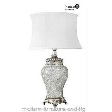 New large antique silver regency lamp, silver mirror mosaic lamp white shade