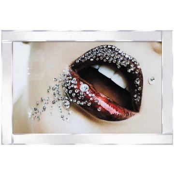 Diamante Lips Glitter Picture