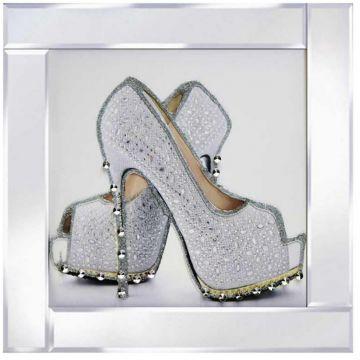 Silver Platform Heel Glitter Picture