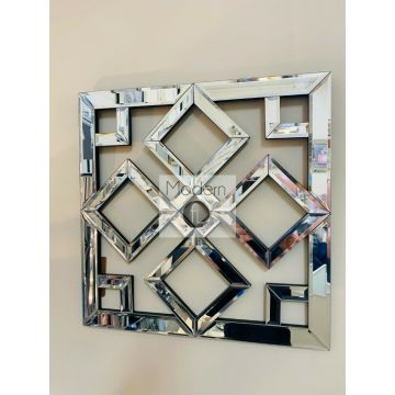 Stunning geometric mirrored wall art 40cm x 40cm, mirrored wall art