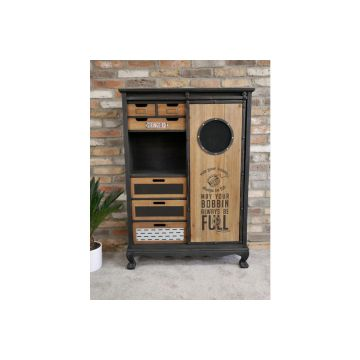 Industrial Style Sewing Kit Cabinet