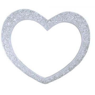 Silver heart mirror with flower frame