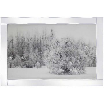 Snowy Tree Scene 3D Picture