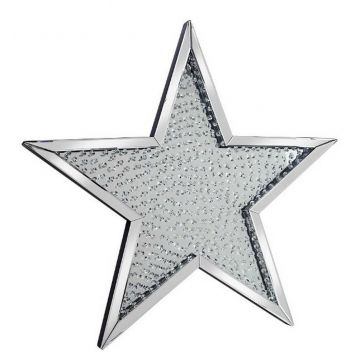 Large mirror star with floating crystal centre