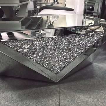 Stunning crushed crystal glitz coffee table