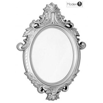 Stunning silver baroque wall mirror, ornate black wall mirror