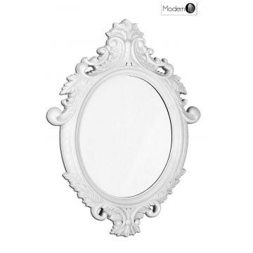 Stunning white baroque wall mirror, ornate black wall mirror