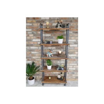 Free Standing Tall Pipe Shelves