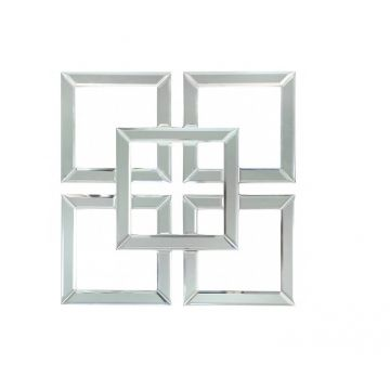 Stunning geometric mirrored wall art 40 cm x 40 cm