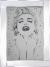 Glitter sparkle Marilyn Monroe in mirrored frame, Marilyn glitter art